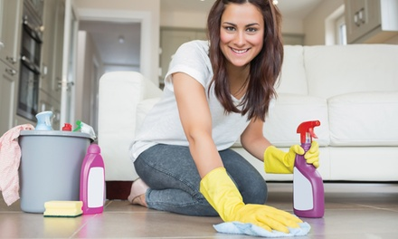 One or Three Housecleaning Sessions Lasting Two Man-Hours from Custom Cleaning Services (Up to 57% Off)