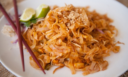 $18 for Two Groupons, Each Good for $15 Worth of Dinner at Thai T Asian Fusion Cafe ($30 Total Value)