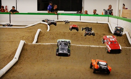 One or Two RC Car Rentals with Track Time, or Race Entry or Two Hours Track Time at Warehouse 3 Racing (Up to 58% Off)