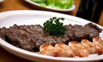 $12 for $20 Worth of Steak-House Cuisine for Two or More at Charcoals Steak & Grill