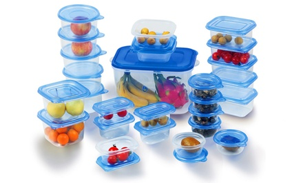 52-Piece Plastic Food Storage Set