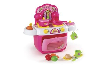 Cozinha de brincar cor-de-rosa por 24,90€