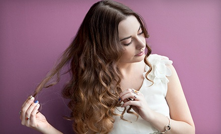 Cut, Condition, and Style with Optional Color or Partial or Full Highlights from Carmen Honaker at Pink (Up to 73% Off)