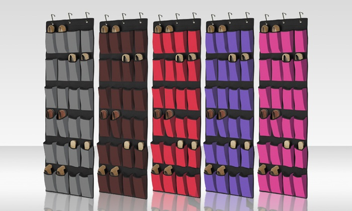 For a 24 pocket over the door shoe organizer groupon for 12 pocket over the door shoe organizer