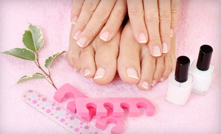One or Two Gel Manicures with Deluxe Pedicures, or One Deluxe Pedicure at Angela Nails And Spa (Up to 54% Off)