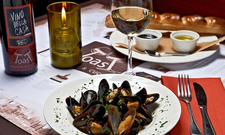 $20 for a Wine Tasting with Appetizer for One or Two People at Toast Enoteca & Cucina ($34 Value)