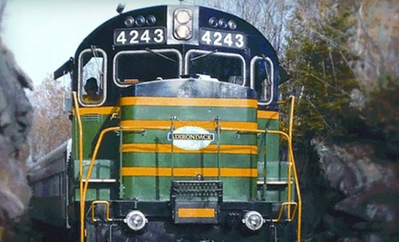 Scenic Train Ride from Utica to Thendara for Two or Family of Four from Adirondack Scenic Railroad (Up to 51% Off)