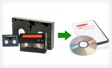 VHS to DVD Conversion from ScanDigital (Up to 67% Off). Two Options Available.