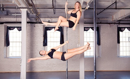 Five Pole-Fitness Classes or One Month of Unlimited Pole-Fitness Classes at Aerial Arts Fitness (51% Off)