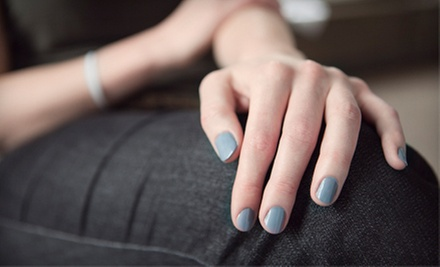 Pedicure and Shellac Manicure, or Three Shellac Manicures at New Image Salon (Up to 68% Off)