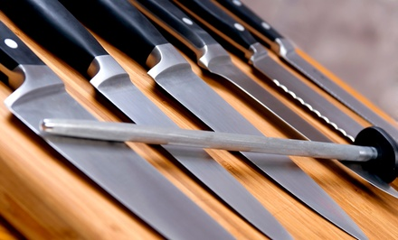 Laser Knife Sharpening at Laser Edge Sharpening (Up to 55% Off). Three Options Available.