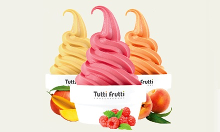 $12 for Two Groupons, Each Good for $10 Worth of Frozen Yogurt at Tutti Frutti($20 Total Value)