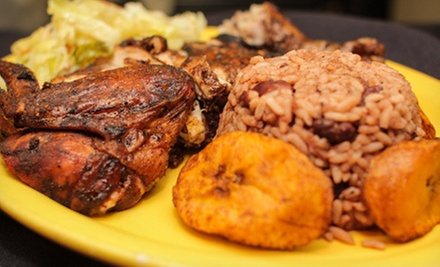 Jamaican Cuisine at Ja&#x27; Grill Restaurant &amp; Lounge (Half Off). Two Options Available.