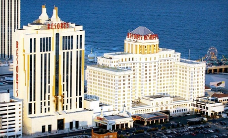 One- or Two-Night Stay with Show Tickets, Casino Credit, and Spa Admission at Resorts Casino Hotel in Atlantic City, NJ