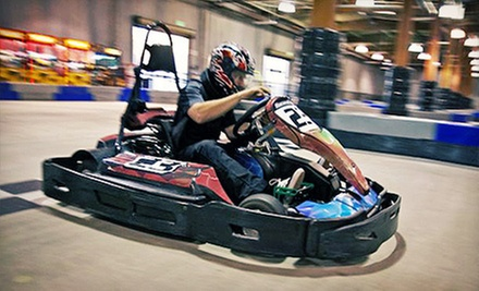 $44 for Four 16-Lap Go-Kart Races at Racer&#x27;s Edge Indoor Karting ($92 Value)