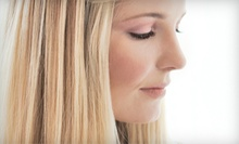 Haircut with Shampoo and Blow-Dry or Partial Highlights with Deep-Conditioning Treatment at Veil Studio (Half Off)