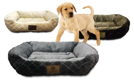 AKC Diamond-Embossed Large Box Pet Bed