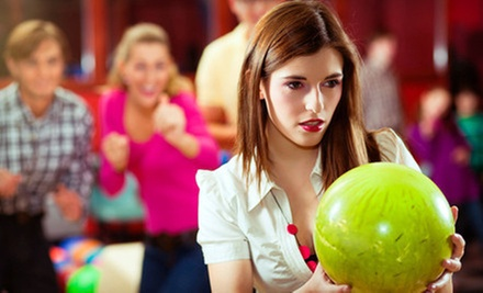 Bowling for Two with Shoe Rental and $10 Voucher or Bowling for Up to Six with $15 Food Credit at Astoria Bowl (52% Off)