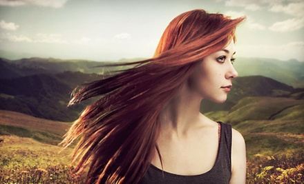 Haircut and Conditioning with Optional Single-Process Color or Full Highlights at A Peace of Eden Spa (Up to 54% Off)