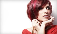 Haircut Package with Style and Optional Partial or Full Highlights at LockStar Salon (Up to 55% Off)