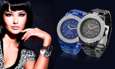 Relógio modelo Montre com Swarovski Elements por 16,99€ ou dois por 26,99€