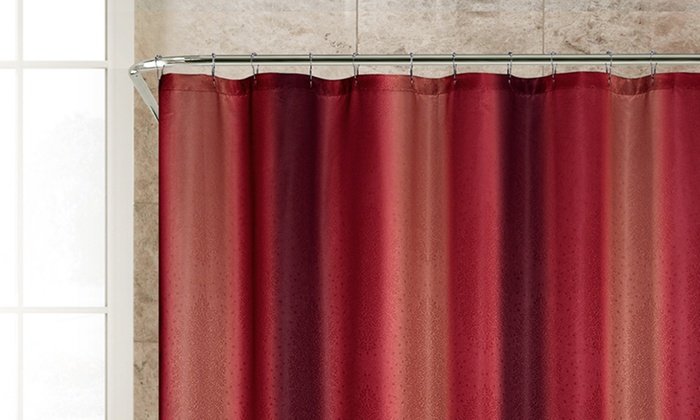 brookhaven ombre shower curtain groupon
