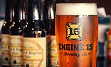 Craft-Beer Package for Two at Engine 15 Brewing Co. (Up to 53% Off). Two Options Available.
