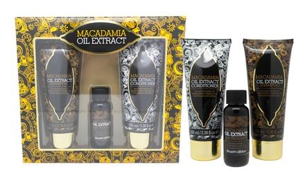 Conjunto Macadamia com champô, condicionador e óleo de tratamento por 12,90€ ou dois conjuntos por 19,90€