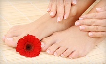 Tropical-Citrus Mani-Pedi with Option for Custom Facial at Charm Ville Day Spa in Valrico (Up to 59% Off)