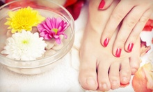 Shellac Manicure with Option for Spa Pedicure at The Glam Spot (Up to 56% Off)