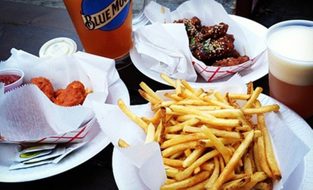 $25 for All-You-Can-Eat Wings and Fries with a Pitcher of Beer on June 22 at Studio Square NYC ($60 Value)