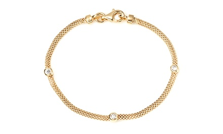 Savvy Cie Crystal Stations Mesh Bracelet | Brought to You by ideel