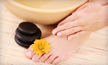 One, Two, or Three Gel Manicures and Standard Pedicures at One Stop Hair, Nail and Full Beauty Salon (Up to 69% Off)