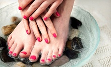 Regular or Shellac Mani-Pedis from Melanya Bileschi at New Era Salon (Up to 53% Off). Three Options Available.