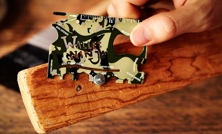 Limited Edition: Camouflage Wallet Ninja 18 in 1 Multitool