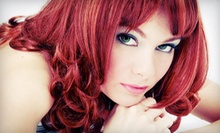 Haircut, Style, and Blow-Dry, or Haircut and Custom Color at Zorganics Health & Beauty (Up to 51% Off)