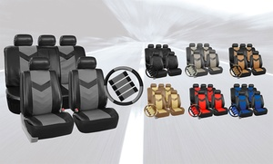 Faux-leather Seat Cover Set