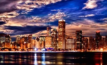"Framed 36""x14"" Framed Canvas Chicago-Skyline Giclée with Optional Shipping from Art & Company (Up to 67% Off)"