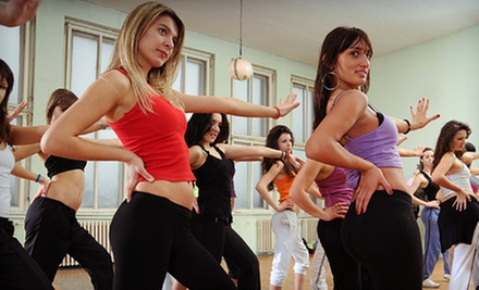 10 or 20 Zumba Classes at Center Stage Dance Studio (Up to 55% Off)