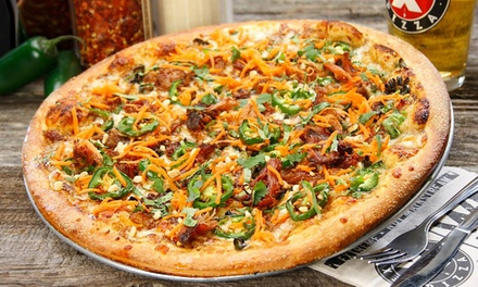 Pizza, Side Salad, and Beer Meal at Extreme Pizza (Up to 41% Off)
