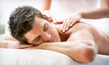 Full-Body Massage or a Back and Neck Massage with Spray Tan at Gold-n-Glow Sunless Tanning Spa (51% Off)