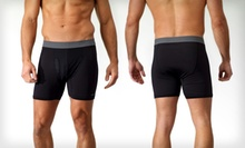 $8.99 for a 2-Pack of Reebok Men's Performance Boxer Briefs in Black in S–XL ($24 List Price)