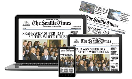 """26- or 52-Week Sunday Print Subscription with Unlimited Digital Access to """"The Seattle Times"""