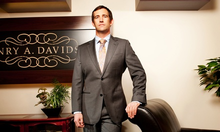Black- or Gold-Label Suit Package or Two Custom Shirts at Henry A. Davidsen (Up to 52% Off)