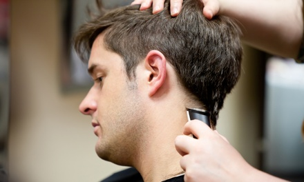 Haircut with Optional Men's Facial and Shoulder Massage at Men's Cuts Grooming Lounge (Up to 55% Off)