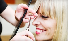 Haircut and Color Packages or Blowout at The Corner Salon (Up to 62% Off). Four Options Available.