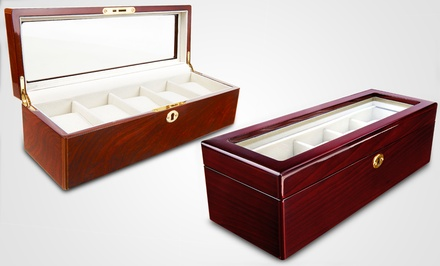 5-Piece Wood Watch Case