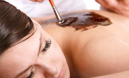 One Chocolate Wrapture with Express Facial and Optional Hot-Stone Massage at Luxe Beauty Lounge (Up to 52% Off)