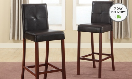 Set of 2 Baxton Studio Curtis Barstools