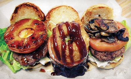$10 for $20 Worth of Burgers, Sandwiches, and Malts at Woody&#x27;s Burgers and Beer